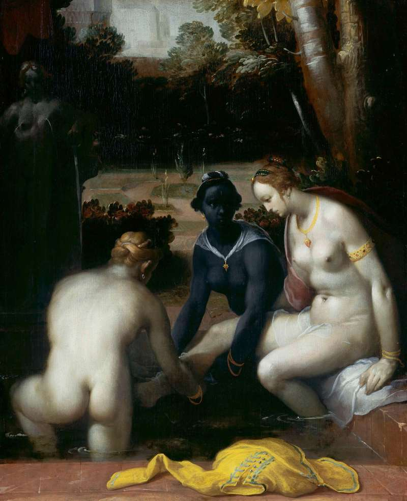 The Toilet of Bathsheba, Cornelis Cornelisz. Haarlem, 1594.