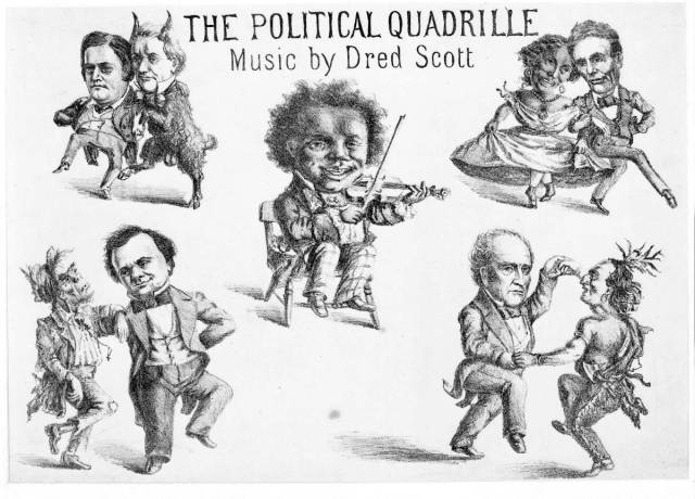 Racially themed cartoon, Harper's.