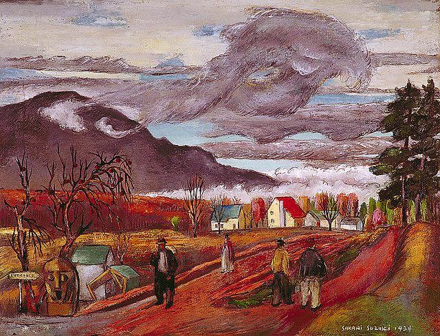 Sakari Suzuki: Merrick Road, 1934. Smithsonian American Art Museum.