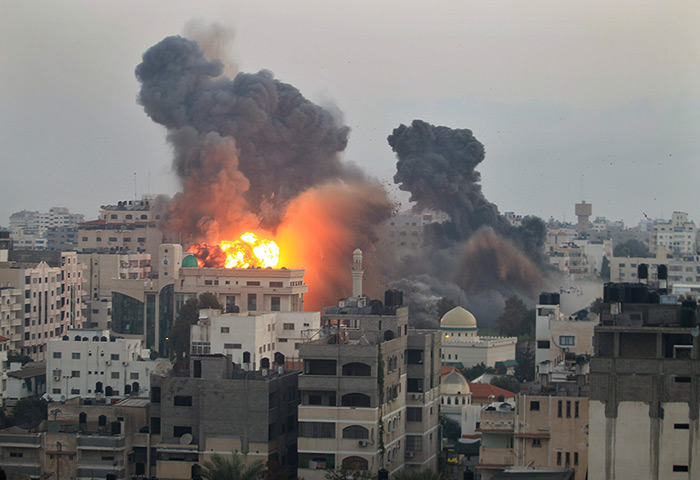 Israeli bombing in Gaza, 2014.