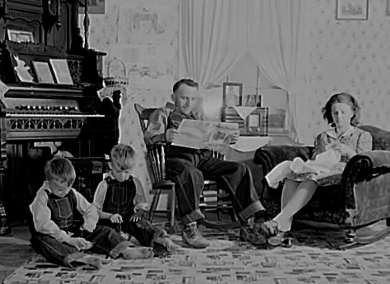 Crawford County, IL family. 1940. FSA/LOC.