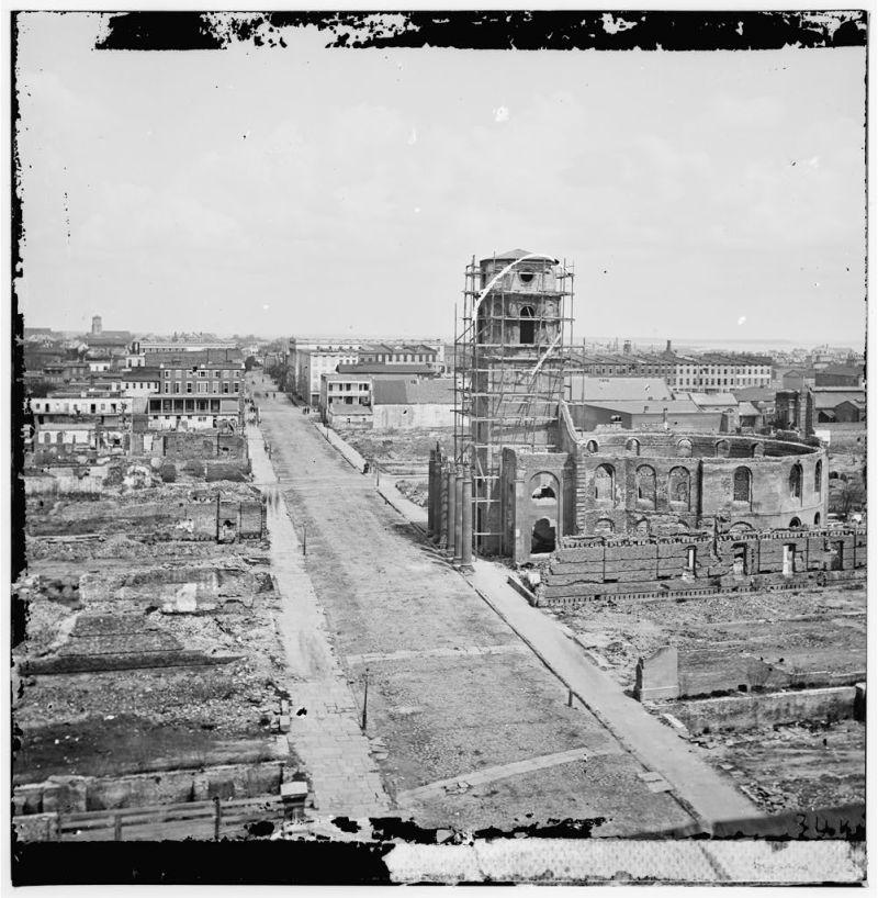Meeting St. Charleston. North of the Circular Church. 1865.